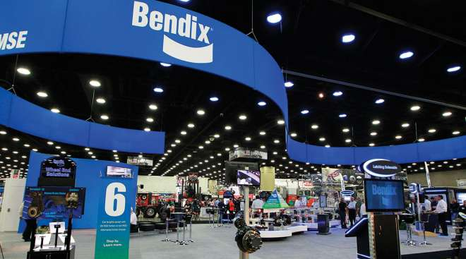 Bendix booth at MATS