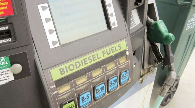 Biodiesel pump in Minnesota