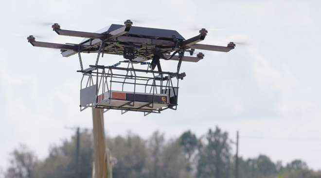 An experimental UPS drone