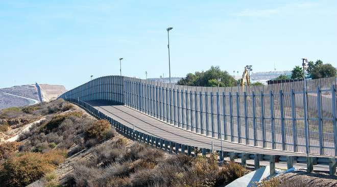 U.S.-Mexico border on California side