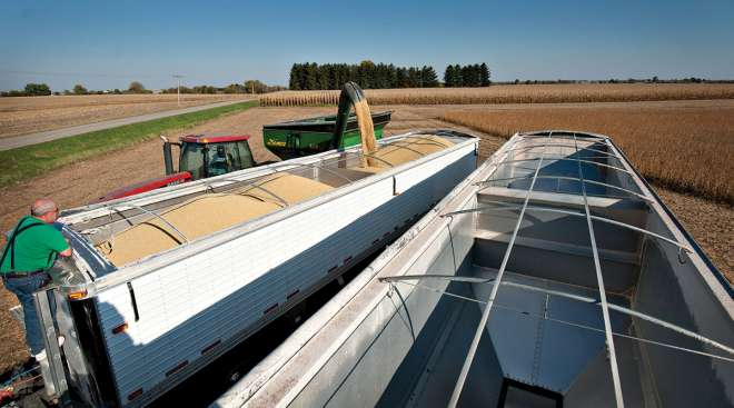 China's agriculture binge due to tariffs.
