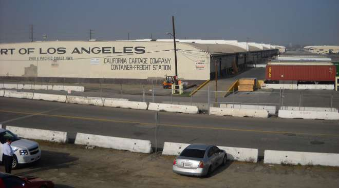 California Cartage warehouse at the Port of L.A.