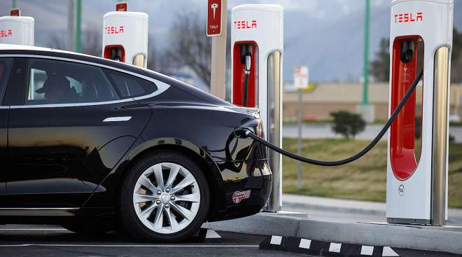 Tesla being charged