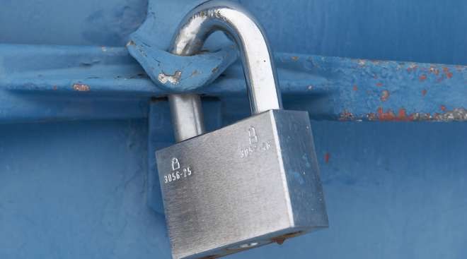 Lock on a cargo container