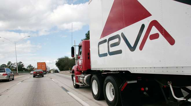 Ceva Logistics truck on highway