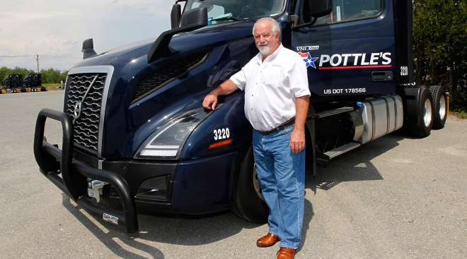 Incoming ATA Chairman Barry Pottle with a rig from his trucking company