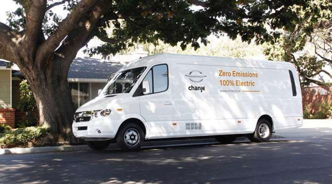 Chanje Energy electric delivery van