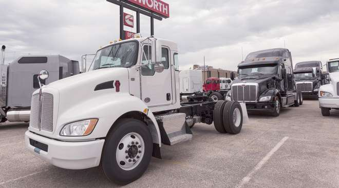 A Kenworth used Class 8 truck