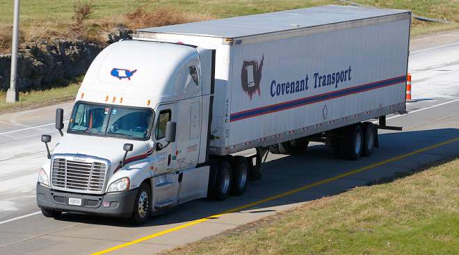 Covenant truck on a Kentucky interstate