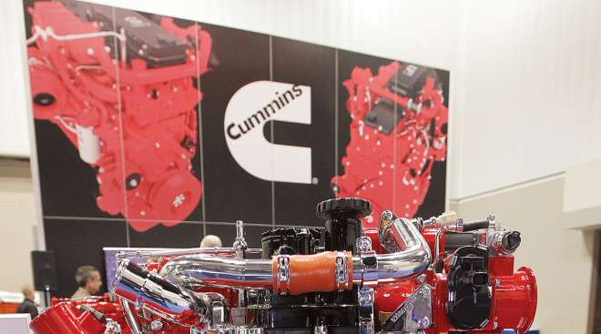 Cummins booth at trade show
