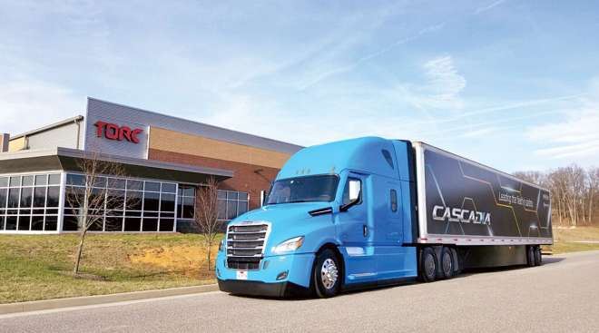 Daimler Cascadia at Torc HQ