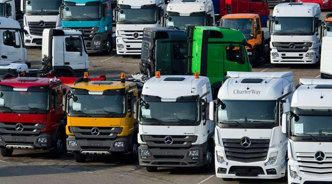 Mercedes-Benz trucks in Germany
