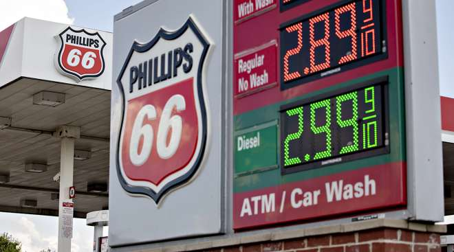 A Phillips 66 fueling station in Rockford, Ill.