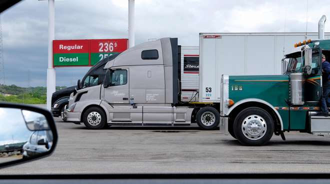 diesel truck stop driver fuel flickr Texas