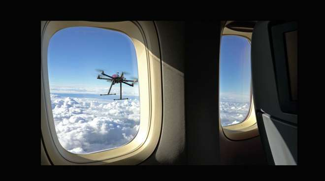 Drone, airplane