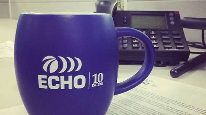 Echo Global Logistics coffee mug