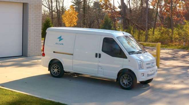 The Electric Last Mile Solutions van has 170 cubic feet of cargo capacity, with a range of 150 to 200 miles on a single charge.