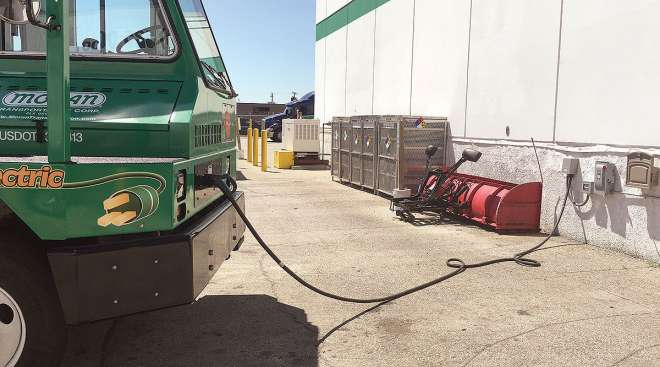 Electric truck charging