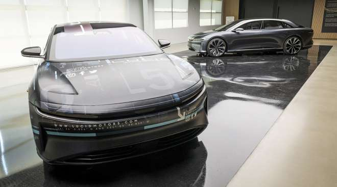 Lucid Air prototype electric vehicles
