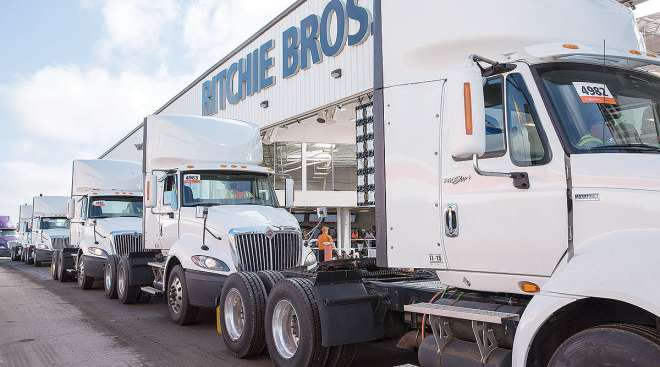 Ritchie Bros. building and trucks