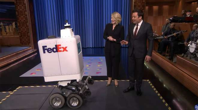 jimmy Fallon and the FedEx Same Day Bot