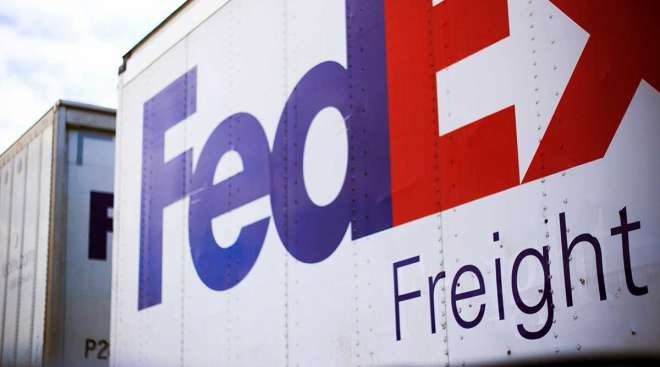 FedEx Freight trailers