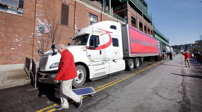 Truck Day at Fenway Park