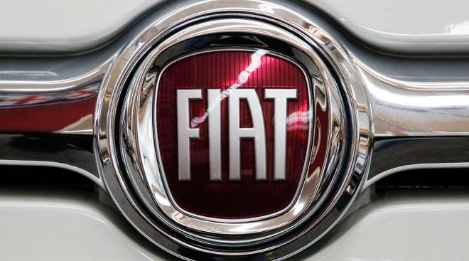 Fiat logo on vehicle