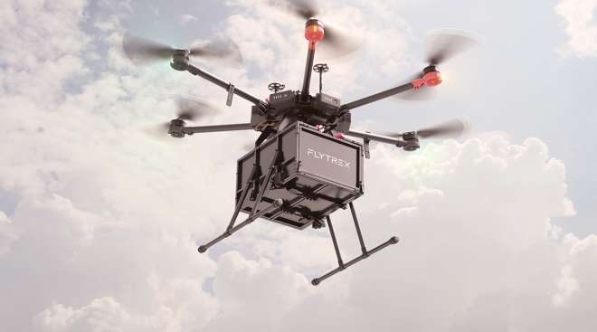 A Flytrex delivery drone