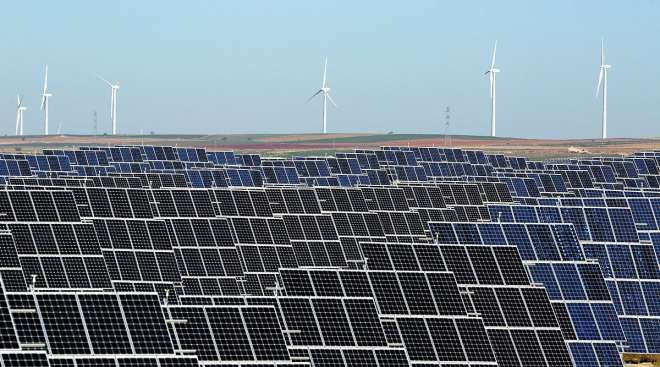 Wind and solar farm