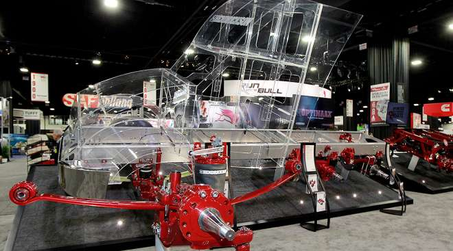 Hendrickson booth at industry show