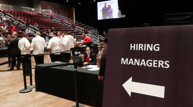 Hiring managers wait for applicants