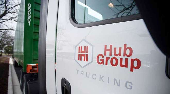 Hub Group truck closeup