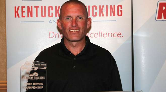 Jason Herko, Grand Champion of the Kentucky Truck Driving Championships out of the 3-Axle division