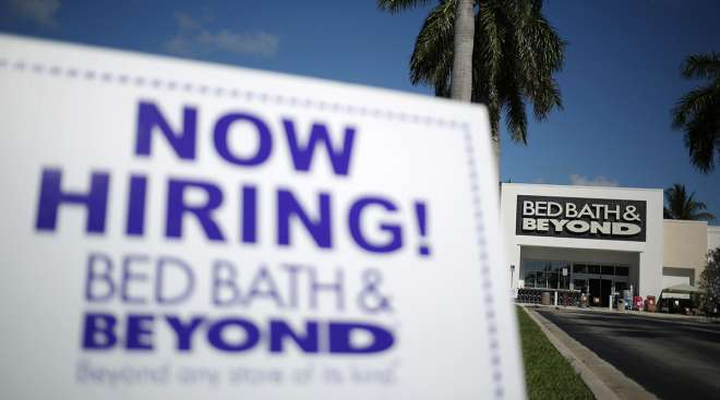 Bed, Bath, and Beyond hiring