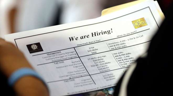 """""""We are hiring"""" poster for company"""
