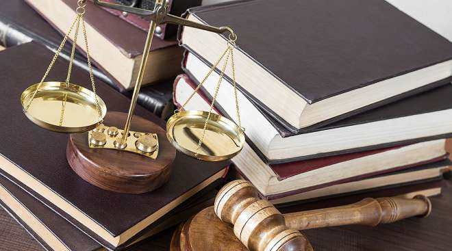 Judge's gavel and scales of justice