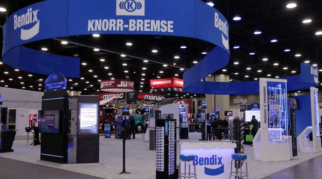 Bendix/Knorr-Bremse booth at MATS