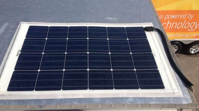 Solar panel on a cab roof