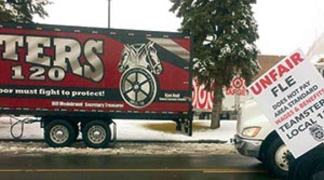 Lakeville Motor Express Ceases Operations; Local Teamsters Denounce Owner's Tactics