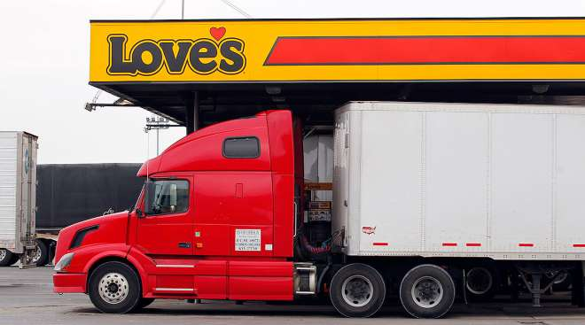 Truck at Love's