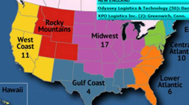 Map Of America In 50 Years.Interactive Map Where The Top 50 Logistics Companies Are In North