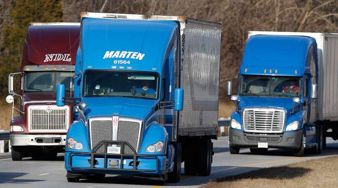 Marten trucks on the road