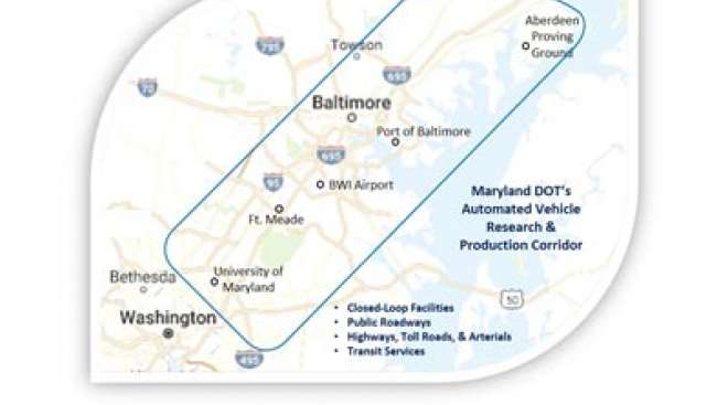 Maryland Applies to US DOT for Automated Vehicle Testing
