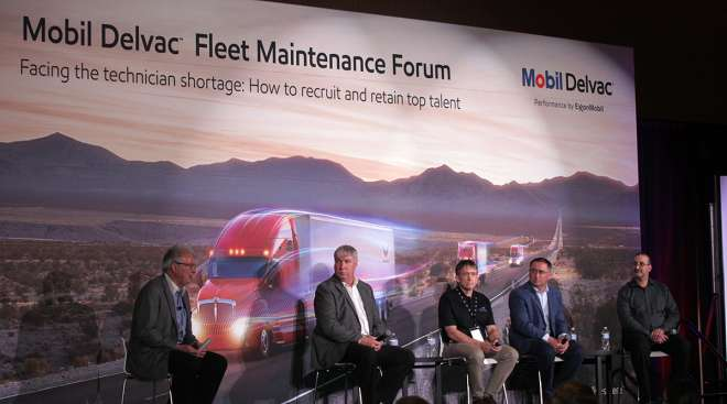 Panelists at Fleet Maintenance Forum, 2018 MATS