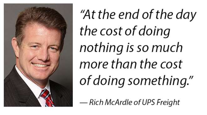 Quote from Rich McArdle of UPS Freight