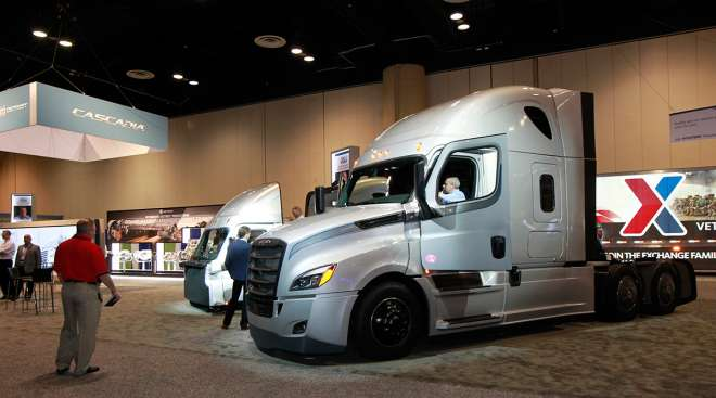 Truck in exhibit hall at 2017 MCE