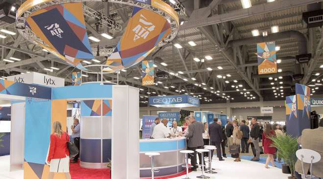 ATA booth at 2018 MCE in Austin, Texas