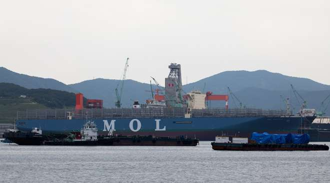 A Mitsui O.S.K. containership