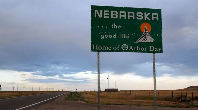Nebraska Welcome Sign